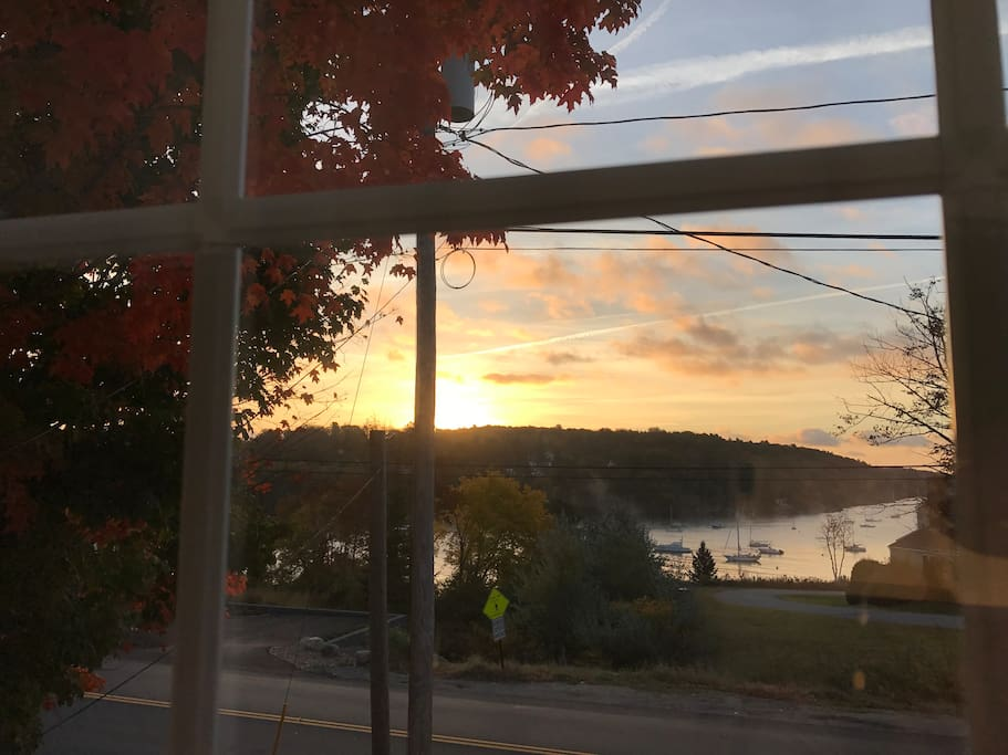Fall sunset at Amsbury Cottage