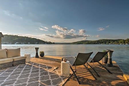 Waterfront Harveys Lake House w/ Boat Slip & Dock!