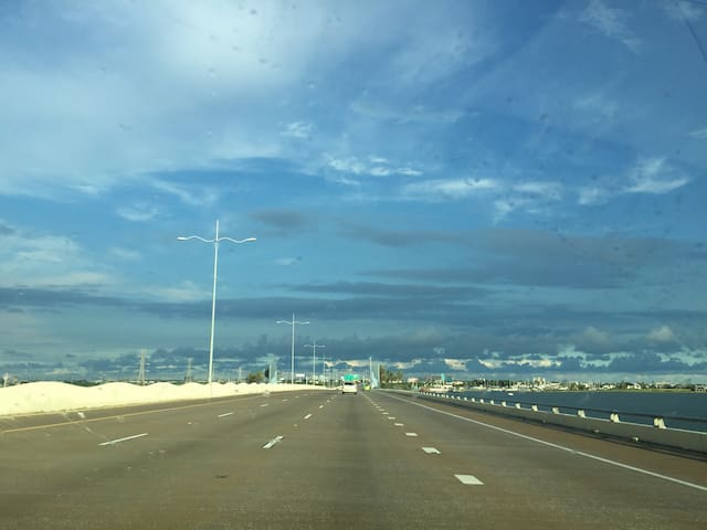45 S bridge to Galveston.