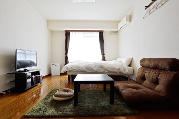 3mins to Nishiōhashi/ Clean&cozy - Nishi-ku, Osaka - Appartement