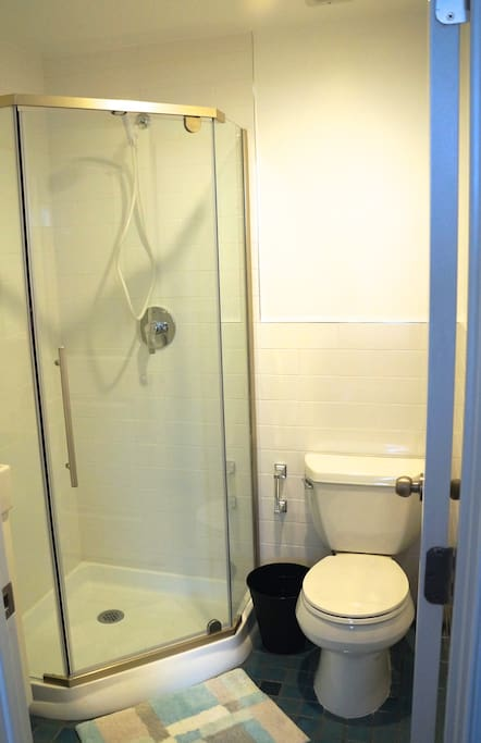 Private, attached full size bathroom