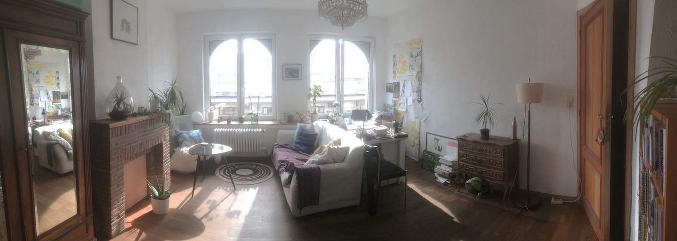Bright room in Brussels with private living room