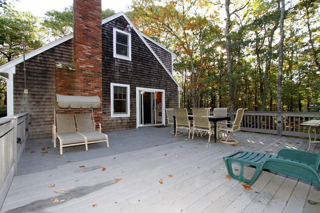 Have a Cape Cod vacation in the trees. Our deck is huge!