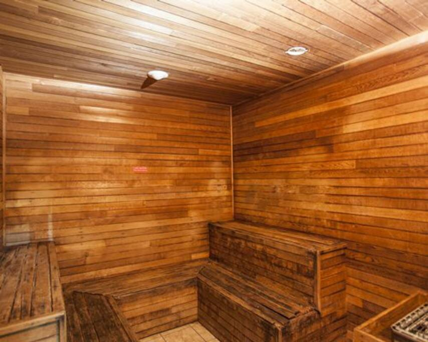 Enjoy this amazing sauna!