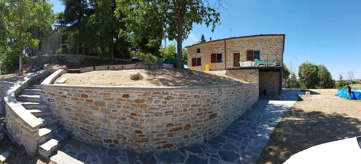 Casale di Santa Maria, Camino di San Francesco.