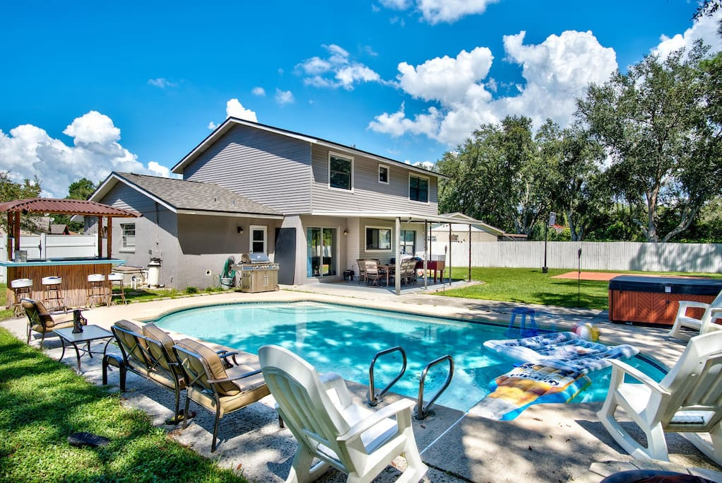 Pool, Outdoor Seating, and Fire Pit