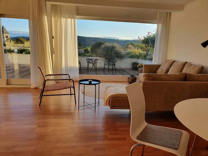 143 m² apartment with dream view over Rhine Valley