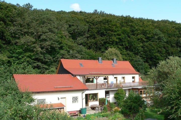 Holiday home with terrace, beautiful natural garden and playing opportunities for children