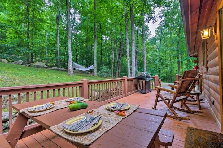 Private Waynesville Cabin w/1 Acre & Mtn View