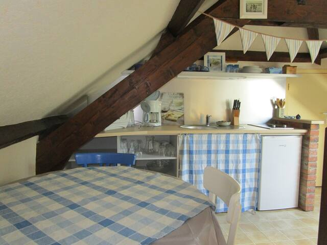 Studio, bourg bord mer, Gold Beach - Asnelles - Apartment