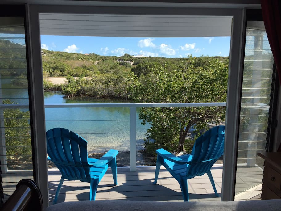 Enjoy a fresh cup of coffee on  your private deck, overlooking the canal.  You might just spot a turtle!