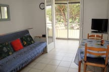 In the middle of Sablettes, 4 beds, all at walk