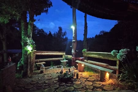 Wooden cabin in San Jose del Pacifico Mexico
