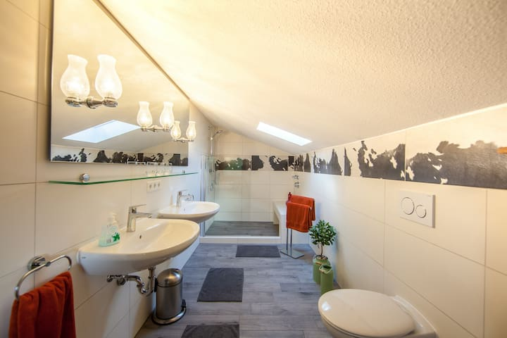Master Bathroom - just renovated in the same 'cow' theme