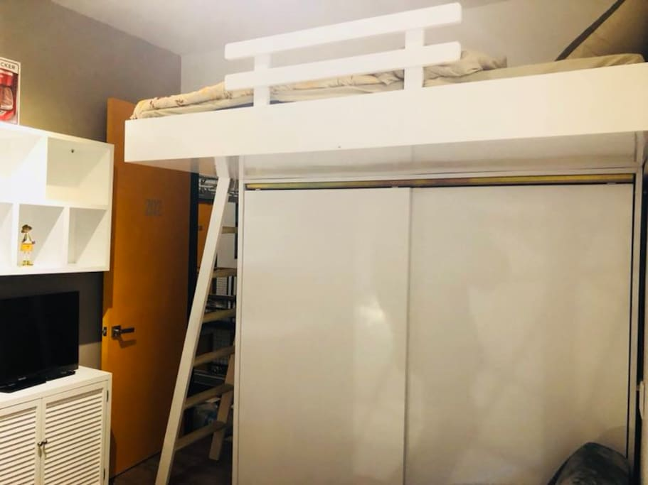 Lofted bed with Big Closet