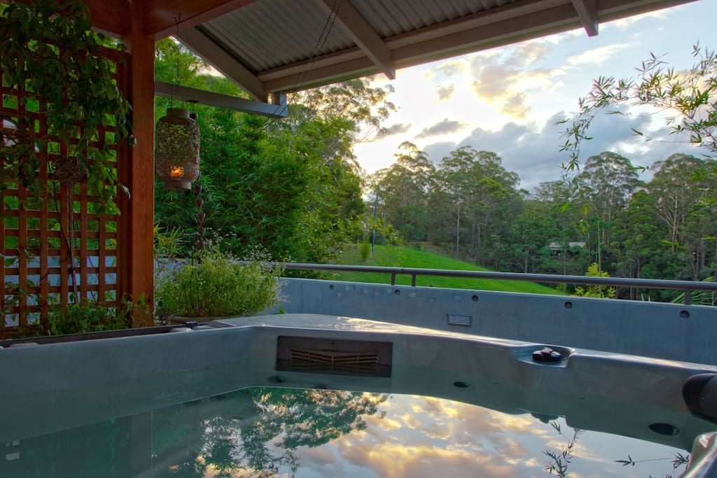 A private, covered spa for ALL seasons.