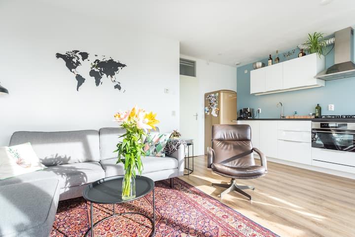 Light apartment in quiet area of Amsterdam centre