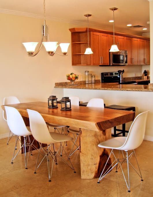 Dining Room and Kitchen - counter height island