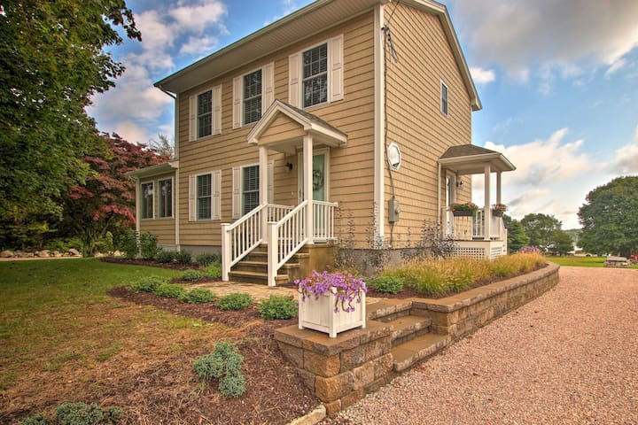 Pawcatuck Riverfront Home w/Yard - Mins to Beach!