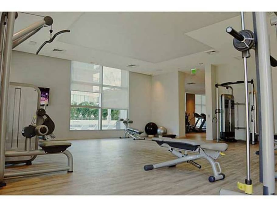 9th floor gym with 3 rooms