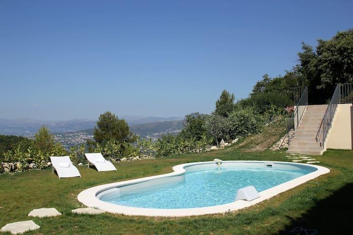 Villa/Pool/Barbecue - 4 bedrooms - Panoramic view - Èze - Villa