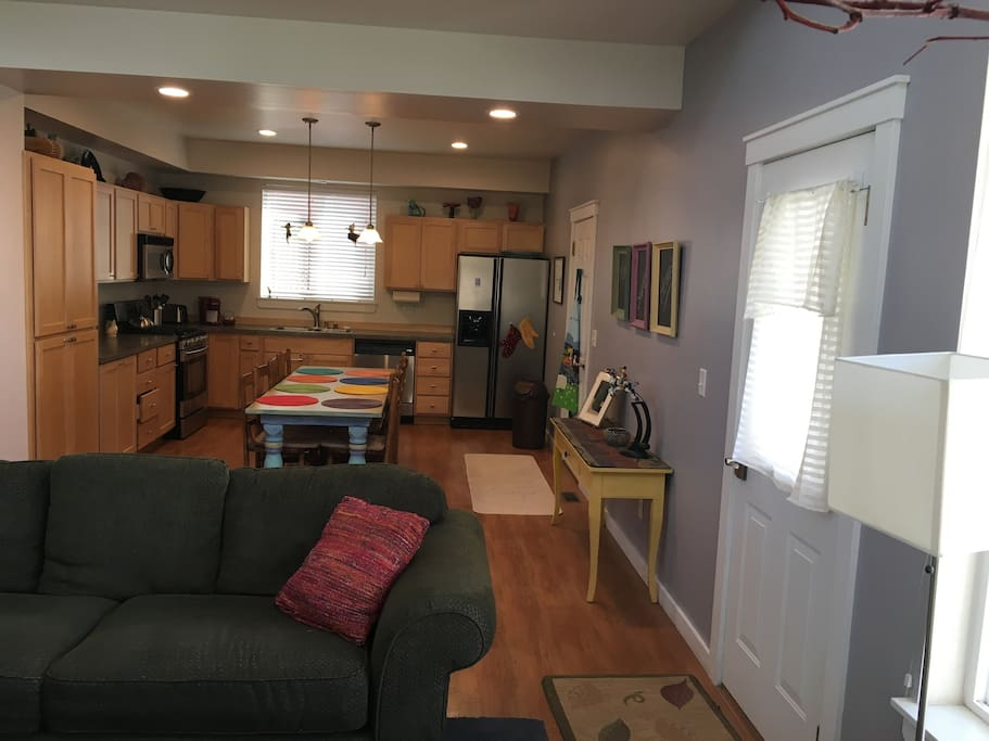 Kitchen with lots of counter space.