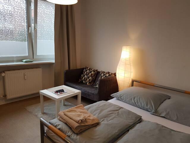 ❤️ Central & warm single-room No.3 & free Wifi