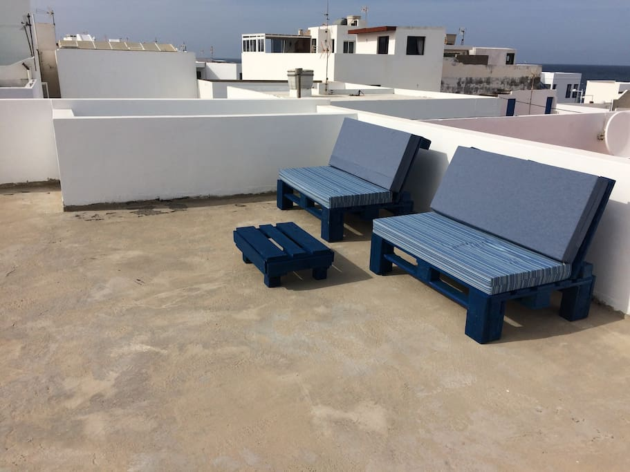 Sunset View Area on the roof