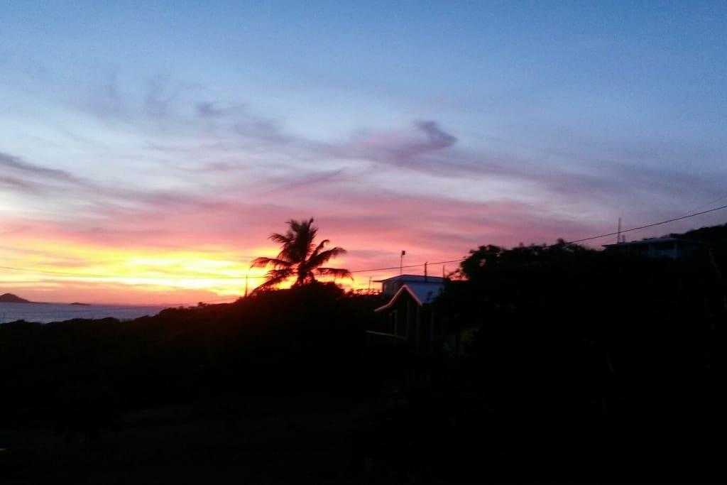 Sunset from Mango Villa