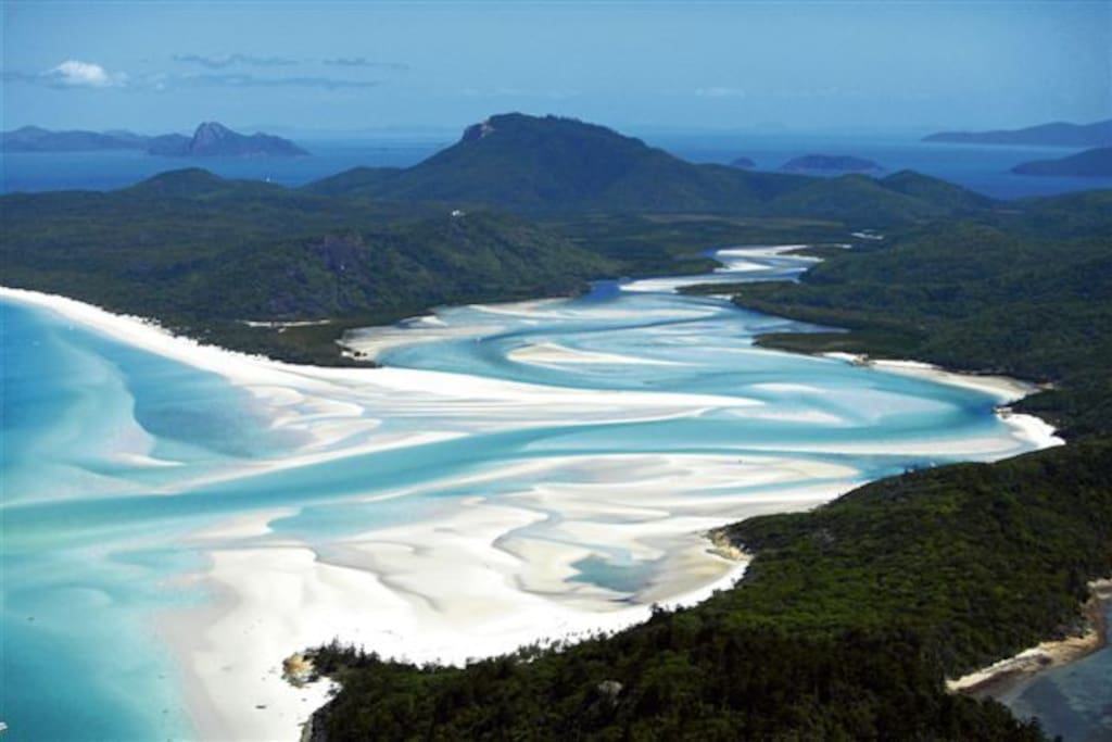 Hill Inlet just part of the World Famous Whitehaven beach