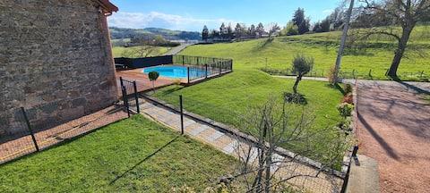 Grange fayet Heated pool