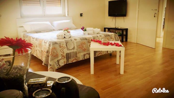 Camera con balcone bagno privato Sognando Matera