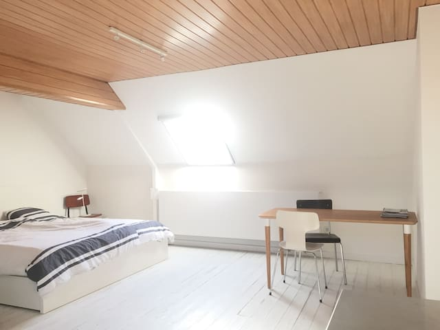 Rooftop room in city centre with private bathroom - Gent - Dom