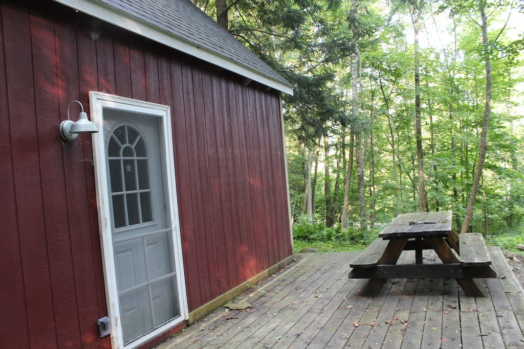 Deck and picnic table area