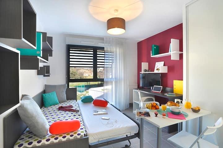 Studio neuf Arceaux Montpellier centre 2 personnes