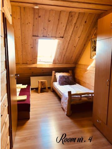 Marianówka Pokój nr. 4 dla 3 osób Adres: Rzeck 51