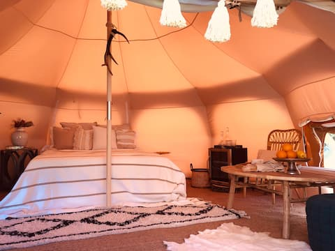 Luxury Glamping Tent located nearby Private Pond
