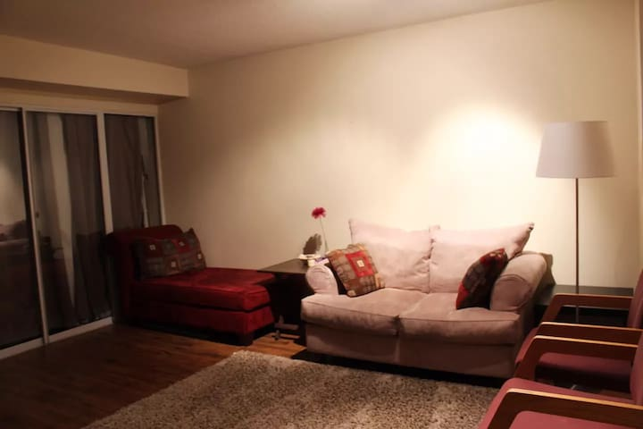 A cute den/room located in the heart of downtown