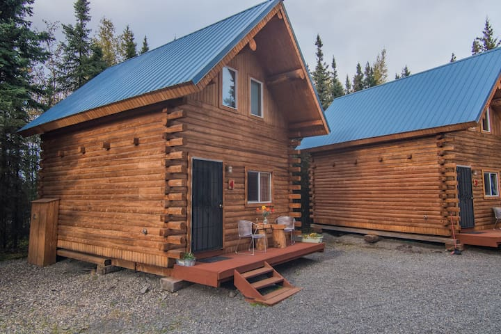 NEW! 1BR +Loft Log Cabin in Kenai Wildlife Refuge!