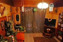 Lounge opens onto the Tropical garden and has TV & DVD