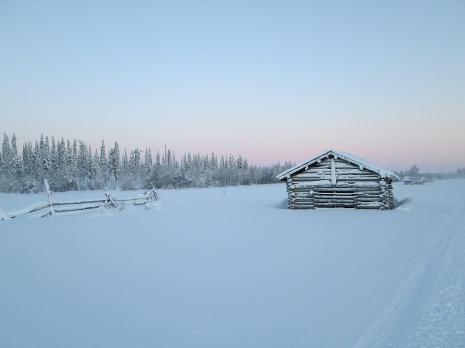 Talvi päivä Vuotsossa