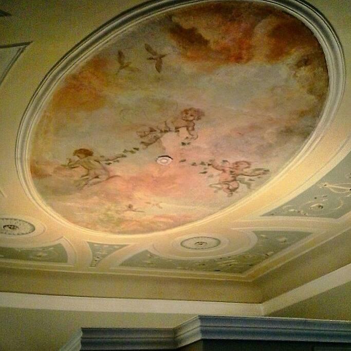 Soffitto affrescato, ceiling frescoed
