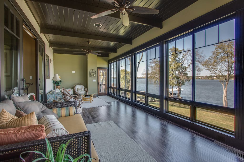 Sunroom with couches accent chairs and lake views Enormous Lakeside Home  for 12 Houses for. Lease To Own Sofa And Loveseats Nashville   xtreme wheelz com