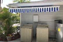 Private Convenient Washer and Dryer for  guests use with awning at no charge