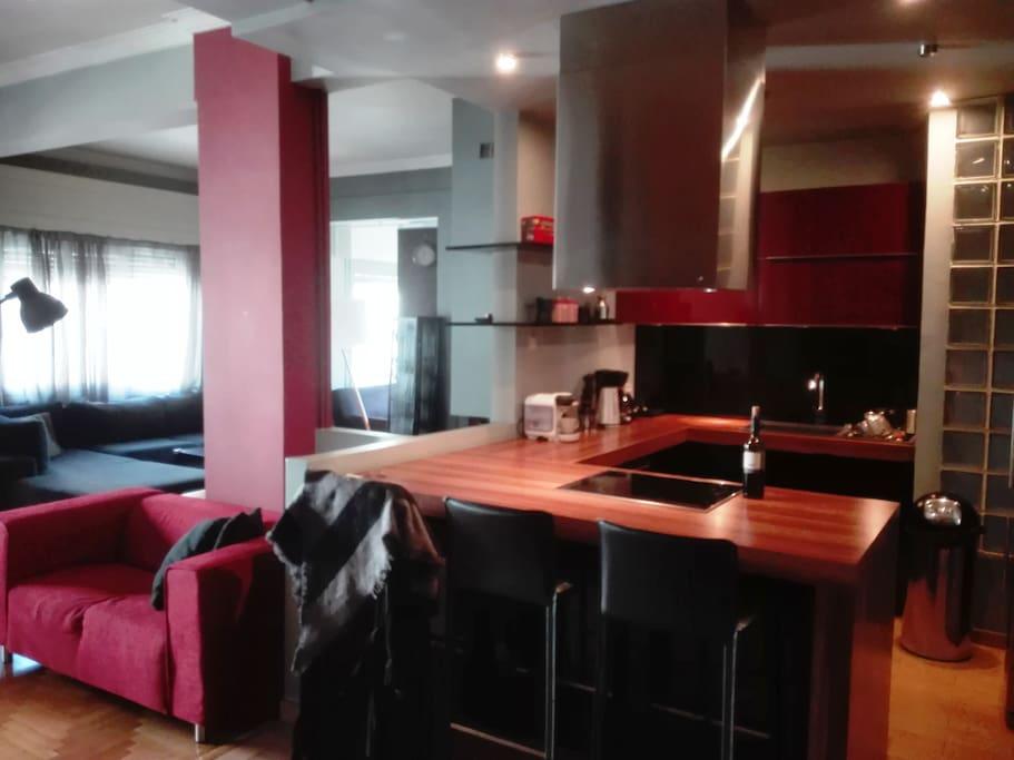 Open Kitchen Living room - Κουζίνα Σαλόνι