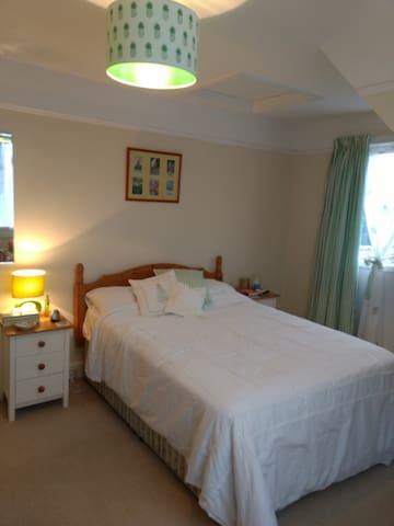 Bed has a memory foam mattress topper, so you should sleep well!
