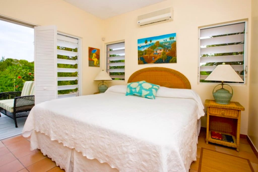 Master Bedroom Pool and garden views steps from the ocean in your backyard Camilla Providenciales