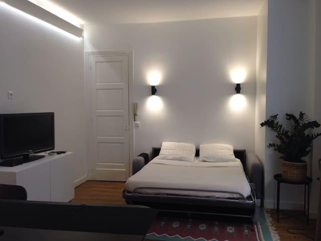 Grand studio (27m2), Paris 17 , Parc Monceau