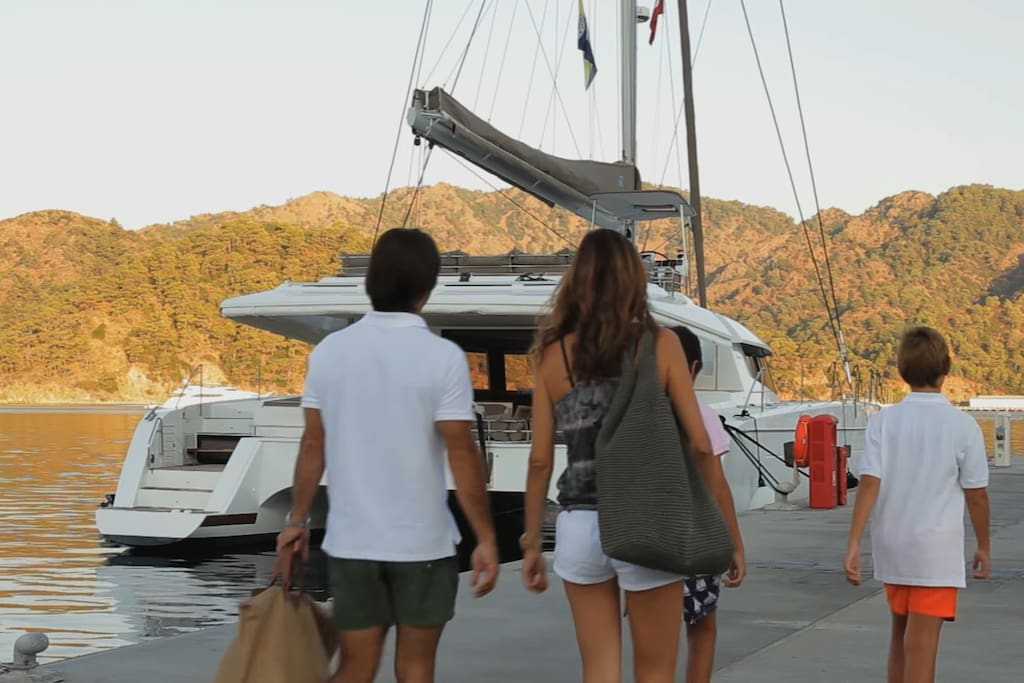 The start of an amazing sailing vacation!