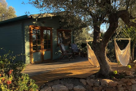 Off-grid cabin for 2, with views of Els Ports.